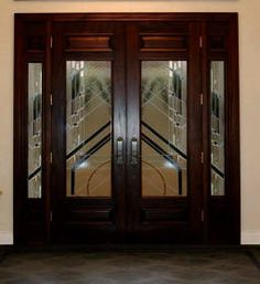 Exterior Double Doors with Sidelights - Solid Mahogany Doors ...