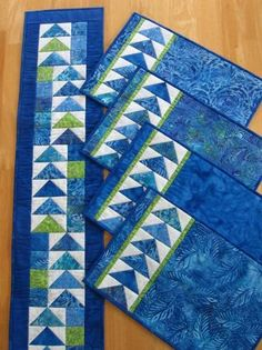 Geese Across the Table in Blues