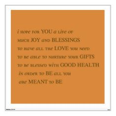 My Wish For You - Quote Wall Decal