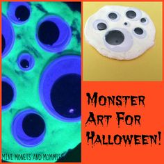 Are you looking for a creative Halloween activity? Kids can create glow in the dark monsters and more, using model magic and shaving cream!
