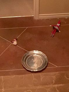 Oh no Little D! You ok? Frosty? No more sledding down the stairs on the silver! #dthedirtyelf