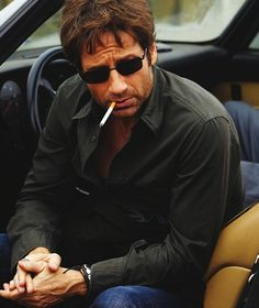 David Duchovny as Hank Moody on Californication. I find his character on that show adorable even though he's kind of despicable lol.