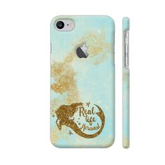 Real Life Mermaid Phone Case Back Cover For Apple iPhone 7 with hole for logo Mobile | Artist: UtART
