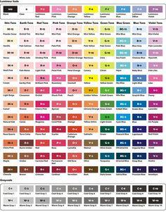 Prismacolor Pencils 150 Chart | Complete Triart Marker Color Chart