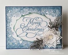 Our Daily Bread Designs Stamp sets: Flourished Merry Christmas, Snowflake Border Background, Our Daily Bread Designs Custom Dies: Lovely Leaves, Merry Mosaics, Elegant Ovals