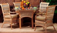 The Spice Island Rattan Dining Set extends an invitation to sit and enjoy every meal! Sunroom Dining, Wicker Dining Chairs, Outdoor Dining Set, Rattan Furniture, Dining Room Furniture, Outdoor Furniture Sets, 3 Piece Dining Set, Dining Sets, Dining Tables