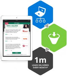 lead generation - 1 million leads delivered every month