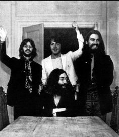 """coolkidsofhistory:  """"The last picture of all four Beatles together, 1969.  """""""