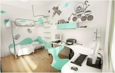 Creative Teenage Bedroom Decoration Ideas