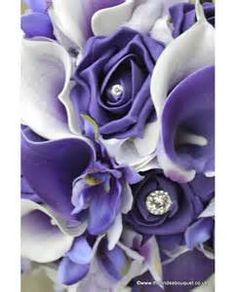 purple, orcids and lillies wedding posies - Yahoo Image Search results