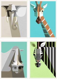 Great graphic animals