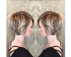 Most of this bob hairstyles fit women especially the ones with a round face. We have gathered together the Short Bob Haircuts for Women that are really amazing Ombre Bob Haircut, Bob Haircut With Bangs, Short Hair With Bangs, Short Hair Cuts For Women, Pixie Haircut, Short Hair Styles, Lob Bangs, Haircut Short, Best Bob Haircuts