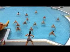 Aqua zumba classes how much effective? Success stories of aqua zumba fitness videos and certifications. Water Aerobic Exercises, Swimming Pool Exercises, Pool Workout, Water Workouts, Water Aerobics Routine, Senior Fitness, Zumba Fitness, Aerobics Classes, Zumba Routines