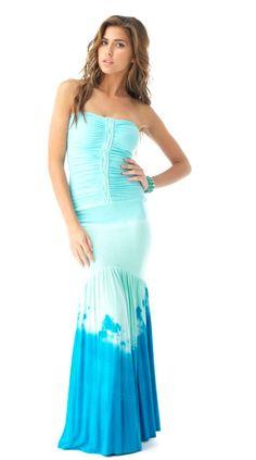 boutique flirt - Sky Solanges Strapless Maxi Dress Blue Tie Dye, $180.00 (http://www.boutiqueflirt.com/sky-solanges-strapless-maxi-dress-blue-tie-dye/)