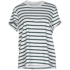 Only T-shirt ($26) ❤ liked on Polyvore featuring tops, t-shirts, dark green, jersey top, dark green t shirt, cotton logo t shirts, cotton t shirt and jersey tee