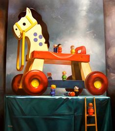 little people too!  If It's Hip, It's Here: Margaret Morrison's Paintings Of Candy Treats and Childhood Toys