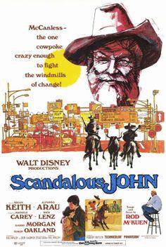 Scandalous John disney movie poster 1971