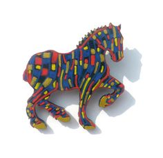 Horse Brooch, Painted Art Jewelry, Horse Art, Horse Lover, Horse Jewelry, Wooden Jewelry, Unique Jewelry, Hand Painted Jewellery