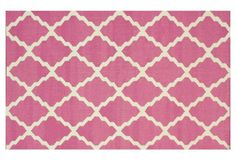Trellis Flat-Weave Rug, Pink