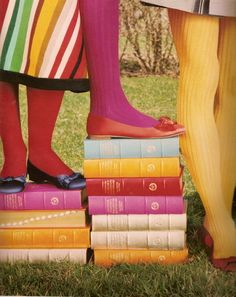 magenta, yellow, sky blue and green. by kate spade