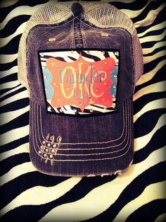 OKC Thunder Mesh Baseball Bling Hat