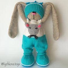 Crochet Bunny Pattern, Crochet Rabbit, Crochet Patterns, Crochet Dolls, Crochet Baby, Knit Crochet, Amigurumi Toys, Amigurumi Patterns, Crochet Russe