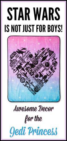 "STAR WARS®️️ CLASSIC GIRL HEART THROW 50""X60"" - PINK - girl's bedroom, girl's room, girl's bedroom decor #affiliatelink"