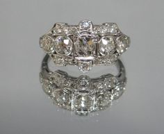 Your place to buy and sell all things handmade Fantasy Wedding, Diamond Are A Girls Best Friend, Alternative Fashion, Jewelry Ideas, Wedding Bands, Art Deco, Diamonds, Bling, Jewels