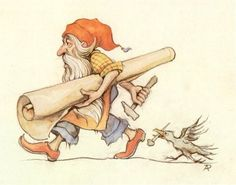 Gnome; Snow White - Tales of the Efteling by Martine Bijl and Anton Pieck