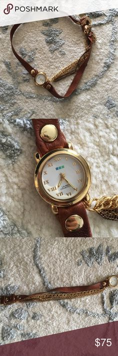 La Mer collection wrap watch!! La Mer collection wrap watch!! Brown leather, I only worn it twice! It is in mint condition!! La Mer Other