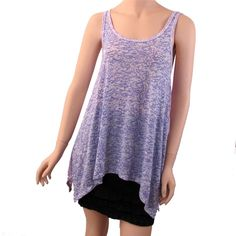 Women's Burnout Purple Tones and White Tank Top Shirt Summer Sheer Cover Up | eBay