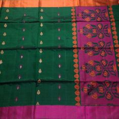 Buy KSS4700005-THAMBOORI's Handwoven Soft Kanchivaram-Bottle green pink beauty, 800g online - Handwoven Kanchivarams,Soft Silks, Silk Cottons and Tussars!