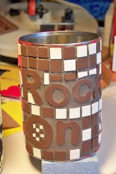 ~ How to use craft foam as ceramic tile…more user friendly than broken dishes for klutzy peeps! lol