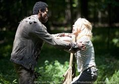 The Walking Dead Season 2 Episode 2 - Bloodletting, Andrea (Laurie Holden) and Walker
