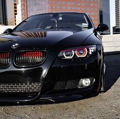 BMW E92 3 series black slammed