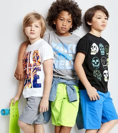 Boys' fashion | Kids' clothes | Graphic tee | Chino shorts | Skateboard style | The Children's Place