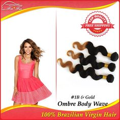 tone color queen hair products brazilian virgin ombre hair extension body wave 3pcs/lot human hair weave free shipping 100g $95.25 - 202.25