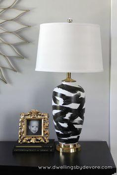 Dwellings By DeVore: DIY Abstract Lamp