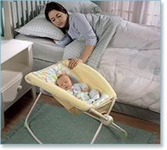 Fisher Price Rocker Sleeper. Wish I would have had one for all my kids. Love this more than any bassinet. Portable - goes around the house with me all day. Baby is still using it at 6 months. Under $50! baby-needs