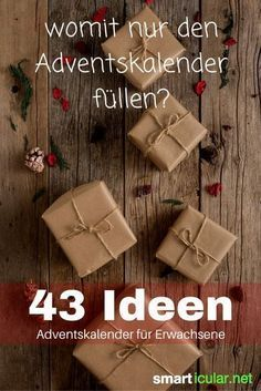 Nobody is too old for an advent calendar - 43 ideas for adultsIdeas for filling the advent calendar for your partner, parents or your best friend: Here you will find simple gifts and original little thingsSeed Bombs Do It Yourself - Seedbombs DIY Advent Calenders, Diy Advent Calendar, Calendar Ideas, Calendar Calendar, Gifts For Friends, Gifts For Mom, Gifts For Boyfriend Parents, Gift Boyfriend, Christmas Time
