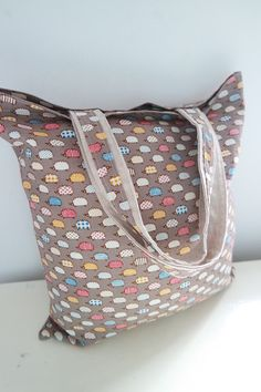 Large Handmade Hedgehog Tote Bag  Foldable by IsItSew on Etsy