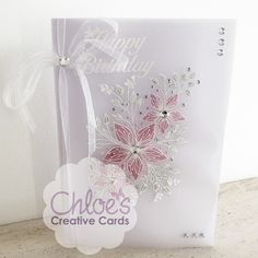 Stamps by Chloe - Fabulous Flower Panel - - As Seen on TV - Chloes Creative Cards Chloes Creative Cards, Creative Christmas Cards, Flower Birthday Cards, Birthday Card Design, Stamps By Chloe, Parchment Cards, Birthday Cards For Women, Floral Theme, Making Ideas