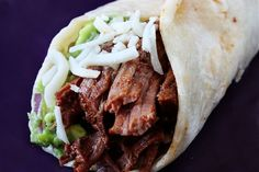 Slow Cooker Shredded Beff Tacos