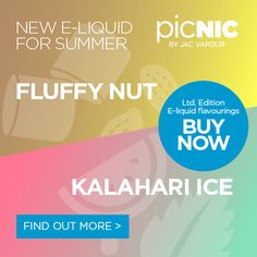 Introducing our two new guest picNIC flavour concentrates - Kalahari Ice and Fluffy Nut.  Our picNIC Easy Mix DIY E-liquid starter kits contain everything you'll need to get started - a bottle of base liquid, 2x flavour concentrates and mixing supplies.    #eliquid #eliquids #diy #adv #ecig #ecigs #vaping #vape #picnic #jacvapour