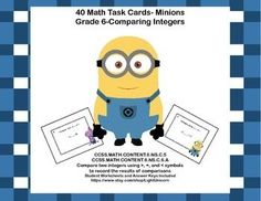 CCSS.MATH.CONTENT.6.NS.C.5CCSS.MATH.CONTENT.6.NS.C.6.AThis product gives your students review in comparing two integers using greater than, less than, and the equal symbols to record the results of the comparisons. Print and add them to your math centers for reinforcement.