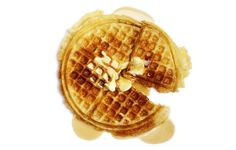 Once you make the batter, all you need to do the next morning is plug in the waffle iron.