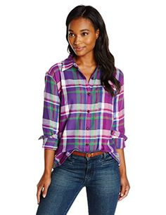 Dickies Women's Long Sleeve Plaid Flannel Shirt, Petunia/Leaf Green/Pink Berry/True Blue, Small Dickies http://www.amazon.com/dp/B00RYM5MMS/ref=cm_sw_r_pi_dp_LmyJwb0A64X6N
