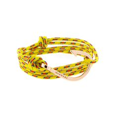 Miansai   Rose Gold Plated Hook Yellow Rope - ROSE GOLD HOOK ON 100% NYLON MARITIME ROPE   $75.00