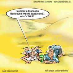 #Desert #Starbucks by @LTCartoons #humor #coffee #pinterest #ltcartoons #funny #mocha