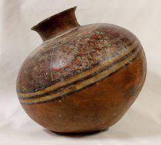 Pre-Columbian, Peru Huari/Wari Culture Poly Chrome Pottery Olla, Ca 500 to 1000 CE, #969
